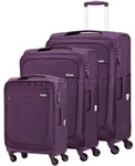 Samsonite B'Lite Xtra Softside Suitcase Set of 3 Plum 57161, 57162, 57163 with FREE Samsonite Luggage Scale 34042
