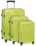 American Tourister Vivolite Hardside Suitcase Set of 3 Lime Green 54562, 54563, 54565 with FREE Samsonite Luggage Scale 34042