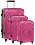 American Tourister Vivolite Hardside Suitcase Set of 3 Hot Pink 54562, 54563, 54565 with FREE Samsonite Luggage Scale 34042