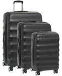 Antler Juno Hardside Suitcase Set of 3 Black 34926, 34923, 34922 with FREE GO Travel Luggage Scale G2008