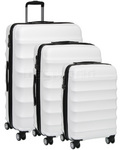 Antler Juno Hardside Suitcase Set of 3 White 34926, 34923, 34922 with FREE GO Travel Luggage Scale G2008