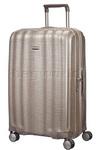 Samsonite Lite-Cube Large 76cm Hardside Suitcase Ivory Gold 58624
