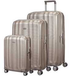 Samsonite Lite-Cube Hardside Suitcase Set of 3 Ivory Gold 58622, 58624, 58625 with FREE Samsonite Luggage Scale 34042