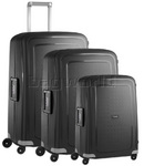 Samsonite S'Cure Hardside Suitcase Set of 3 Black 49539, 10001, 10002 with FREE Samsonite Luggage Scale 34042