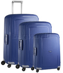 Samsonite S'Cure Hardside Suitcase Set of 3 Dark Blue 49539, 10001, 10002 with FREE Samsonite Luggage Scale 34042