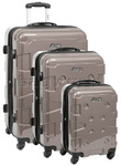 Jeep Cherokee Hardside Suitcase Set of 3 Sand 8300C, 8300B, 8300A with FREE Travelon Luggage Scale 12636