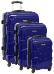 Jeep Cherokee Hardside Suitcase Set of 3 Ink Blue 8300C, 8300B, 8300A with FREE Travelon Luggage Scale 12636