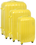 American Tourister Prismo Hardside Suitcase Set of 3 Sunflower Yellow 41001, 41002, 41003 with FREE Samsonite Luggage Scale 34042