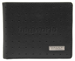 Vault RFID Blocking Leather Slimline Wallet Punch Detail Black VM502