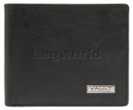 Vault RFID Blocking Leather Slimline Wallet Oil Tanned Black VM602