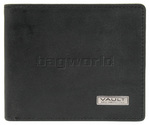 Vault RFID Blocking Leather Wallet with Top Flap Oil Tanned Black VM603