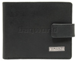 Vault RFID Blocking Leather Wallet with Top Flap and Tab Oil Tanned Black VM623
