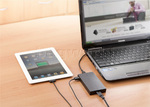 Targus Power 90W Slim & Light Laptop Charger + Phone/Tablet Charge Black PA042 - 4