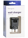 Targus Dual USB Wall Charger Black APA72