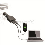 Targus Power 90W Laptop Car Charger with USB Phone/Tablet Charge Black PD046 - 2