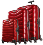 Samsonite Firelite Hardside Suitcase Set of 3 Chilli Red 72001, 72003, 72004 with FREE Samsonite Luggage Scale 34042