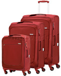 Samsonite B'Lite Xtra Softside Suitcase Set of 3 Chilli Red 57161, 57162, 57163 with FREE Samsonite Luggage Scale 34042
