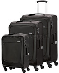 Samsonite B'Lite Xtra Softside Suitcase Set of 3 Black 57161, 57162, 57163 with FREE Samsonite Luggage Scale 34042