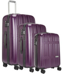 Antler Jupiter Hardside Suitcase Set of 3 Purple 59226, 59223, 59228 with FREE GO Travel Luggage Scale G2008