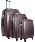 Antler Elara Hardside Suitcase Set of 3 Aubergine 60226, 60223, 60222 with FREE GO Travel Luggage Scale G2008