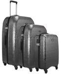 Antler Elara Hardside Suitcase Set of 3 Black 60226, 60223, 60222 with FREE GO Travel Luggage Scale G2008
