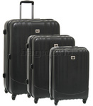 CAT Turbo Hardside Suitcase Set of 3 Black 83087, 83088, 83089 with FREE GO Travel Luggage Scale G2006