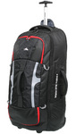 High Sierra Composite Large 84cm Wheeled Duffel with Backpack Straps Black 63218