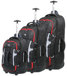 High Sierra Composite Wheeled Duffel with Backpack Straps Set of 3 Black 63216, 63217, 63218 with FREE Samsonite Luggage Scale 34042