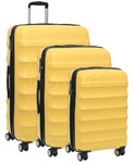 Antler Juno Hardside Suitcase Set of 3 Yellow 34926, 34923, 34922 with FREE GO Travel Luggage Scale G2008