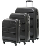 American Tourister Bon Air Hardside Suitcase Set of 3 Black 62940, 62941, 62942 with FREE Samsonite Luggage Scale 34042