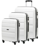 American Tourister Bon Air Hardside Suitcase Set of 3 White 62940, 62941, 62942 with FREE Samsonite Luggage Scale 34042