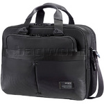 "Samsonite City Vibe 16"" Laptop & Tablet Briefcase Jet Black 59557"