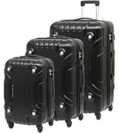 High Sierra Rock Hardside Suitcase Set of 3 Black 63543, 63544, 63545 with FREE Samsonite Luggage Scale 34042