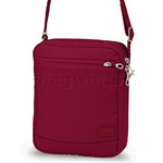 Pacsafe Citysafe CS150 RFID Blocking Anti Theft Tablet Cross Body Shoulder Bag Cranberry 20215