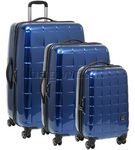 Antler Camden Hardside Suitcase Set of 3 Blue 29626, 29623, 29622 with FREE GO Travel Luggage Scale G2008