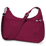 "Pacsafe Citysafe CS200 RFID Blocking Anti Theft 11"" Laptop or Tablet Handbag Cranberry 20225"
