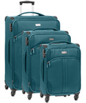 Antler Aire Softside Suitcase Set of 3 Teal 60926, 60916, 60915 with FREE GO Travel Luggage Scale G2008