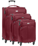 Antler Aire Softside Suitcase Set of 3 Red 60926, 60916, 60915 with FREE GO Travel Luggage Scale G2008