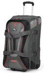 High Sierra AT7 66cm Wheeled Duffel with Backpack Straps Charcoal AT758