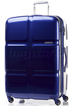 American Tourister Cube Pop Large 79cm Hardside Suitcase Midnight Blue 62362