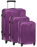 American Tourister Vivolite Hardside Suitcase Set of 3 Purple 54562, 54563, 54565 with FREE Samsonite Luggage Scale 34042