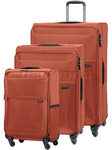 Samsonite 72 Hours Softside Suitcase Set of 3 Burnt Orange 51440, 60571, 60572 with FREE Samsonite Luggage Scale 34042