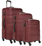 Antler Saturn Hardside Suitcase Set of 3 Burgundy 41026, 41023, 41022 with FREE GO Travel Luggage Scale G2008