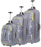 High Sierra Composite Wheeled Duffel with Backpack Straps Set of 3 Grey 63216, 63217, 63218 with FREE Samsonite Luggage Scale 34042