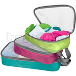 Travelon Travel Accessories Set of 3 Lightweight Packing Organizers Bright 44021