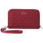Pacsafe RFIDsafe W200 RFID Blocking Women's Travel Wallet Cranberry 10720