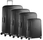 Samsonite S'Cure Hardside Suitcase Set of 4 Black 56342, 56338, 56339, 64512 with FREE Samsonite Luggage Scale 34042
