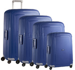 Samsonite S'Cure Hardside Suitcase Set of 4 Dark Blue 56342, 56338, 56339, 64512 with FREE Samsonite Luggage Scale 34042