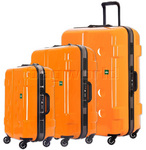 Lojel Carapace Hardside Suitcase Set of 3 Orange JCA55, JCA69, JCA79 with FREE Lojel Luggage Scale OCS27
