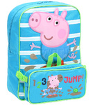 Peppa Pig George Pig Backpack & Utility Bag Blue PP58